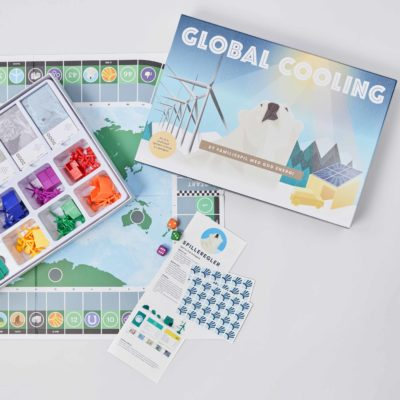 View of the Global Cooling game opened and partially set up