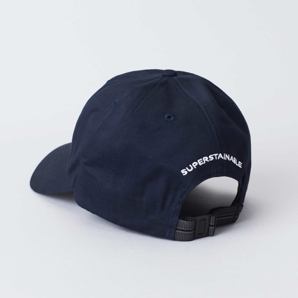 Pack shot of the back of the organic navy cotton cap Seierø