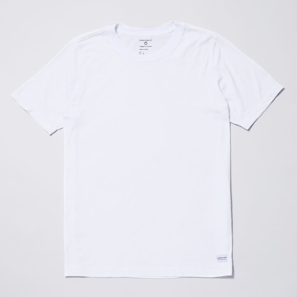 Front of the white organic cotton Anholt T-shirt