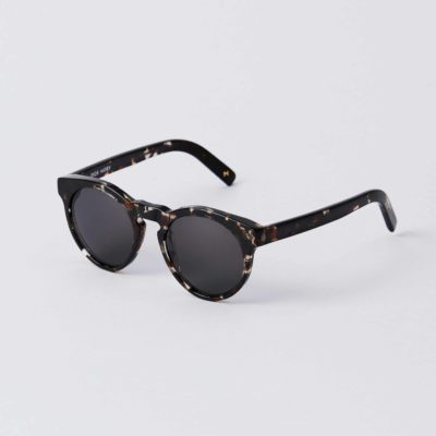 Front view of the DICK MOBY® LHR Crystal Havana sunglasses