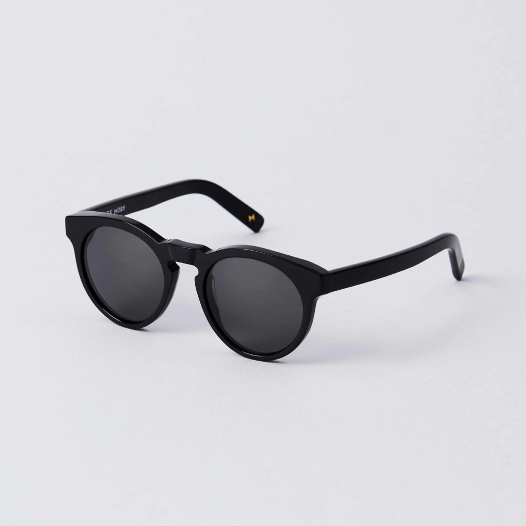 Front view of the DICK MOBY® LHR Black sunglasses