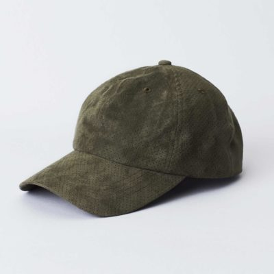 Pack shot of the front of the organic green Jegindø cap