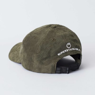 Pack shot of the back of the organic green Jegindø cap