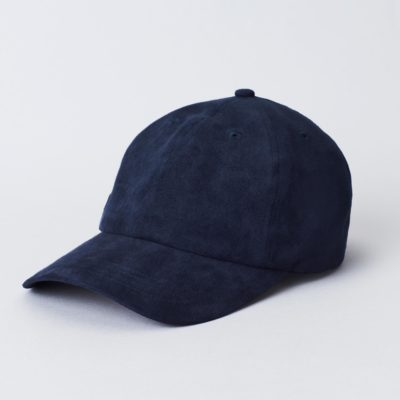 Pack shot of the front of the organic navy Jegindø cap