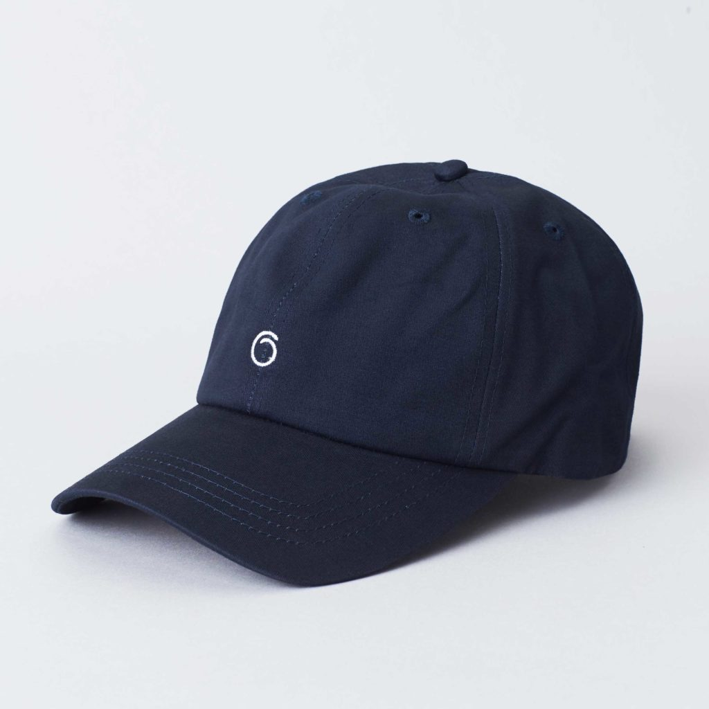 Pack shot of the front of the organic navy cotton cap Seierø