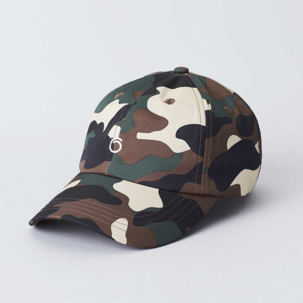 Packshot front view of the Superstainable Camo Cap