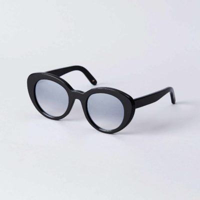 Front view of the DICK MOBY® VLC Recycled Black sunglasses