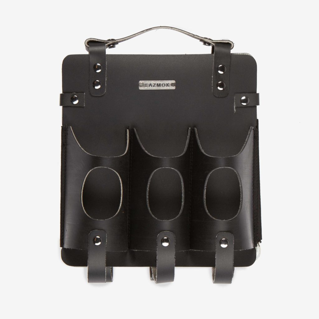 Front view of the Kazmok Beer Carrier