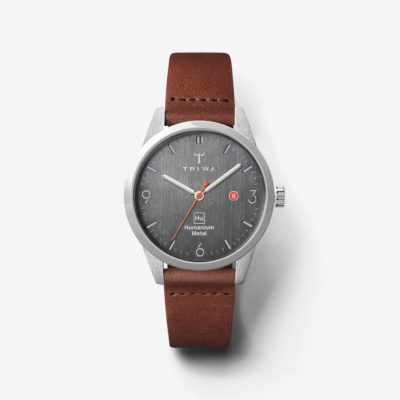 Pack shot of the front of the brown HU39-D Triwa watch